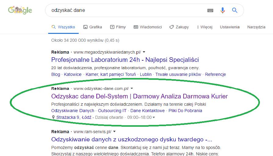 Nowa reklama Google Ads